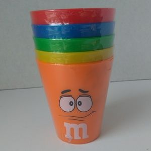 🆕M&M's | Collectible Plastic Cups, Set of 5